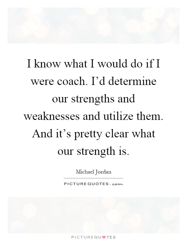 how to know strength and weakness