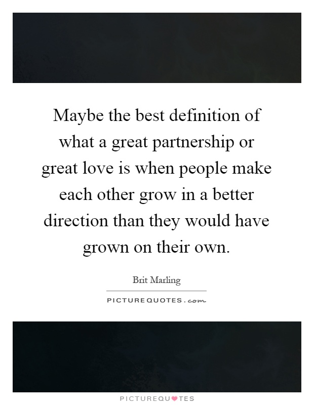 define partnership in a relationship