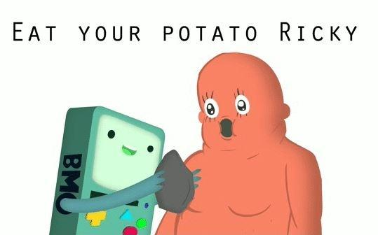 Eat your potato, Ricky! Picture Quote #1
