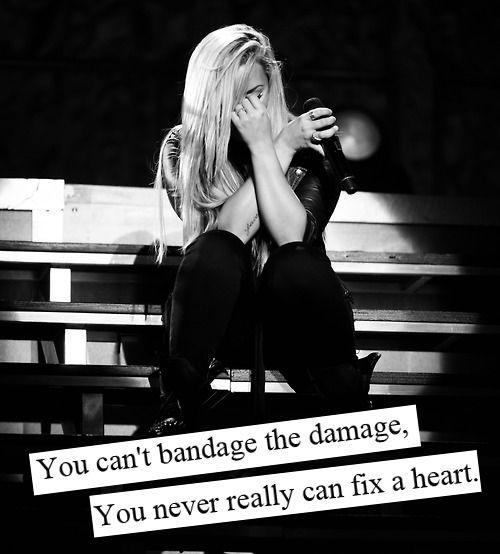 You can't bandage the damage, you never really can fix a heart Picture Quote #1