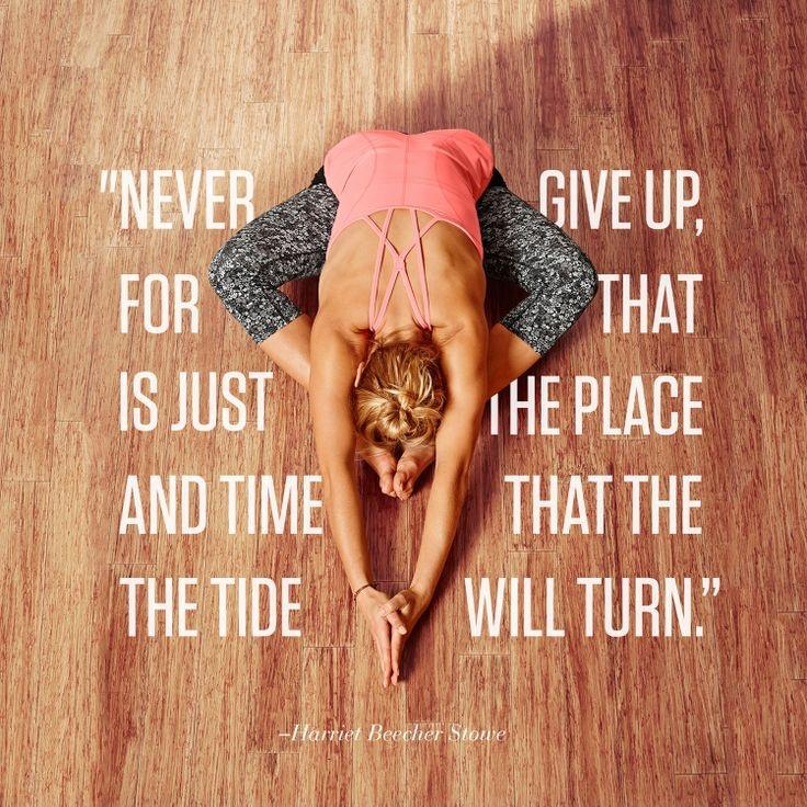 Never give up, for that is just the place and time that the tide will turn Picture Quote #1
