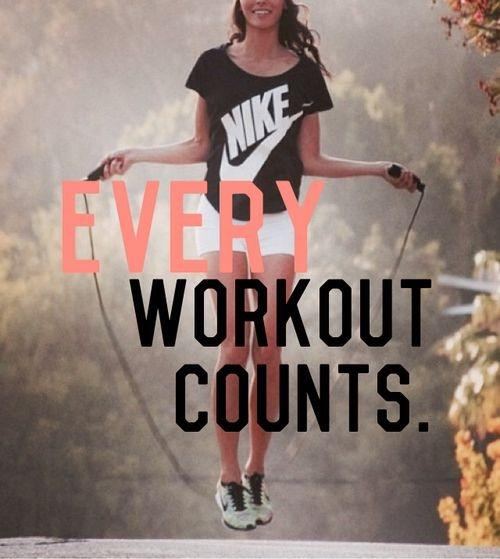 Every workout counts Picture Quote #1