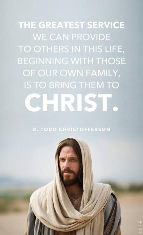 The greatest service we can provide to others in this life, beginning with those of our own family, is to bring them to Christ Picture Quote #1