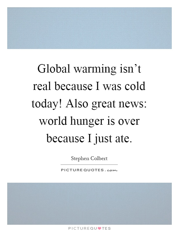I have a paper on global warming...?