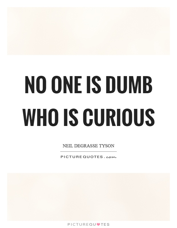 No one is dumb who is curious Picture Quote #1