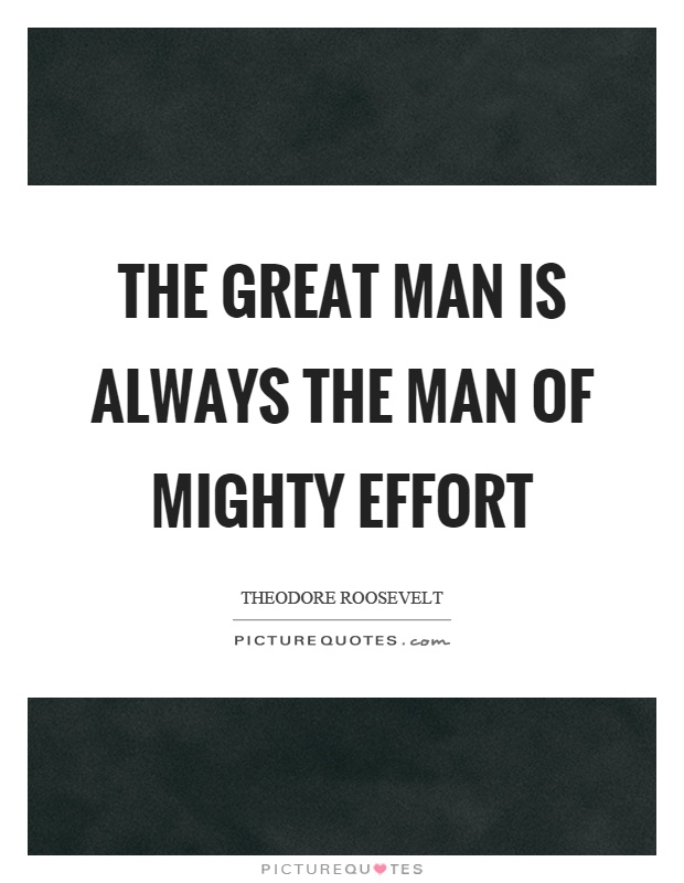 the great man is -#main