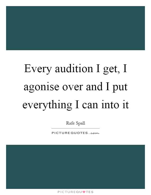 how to get an audition
