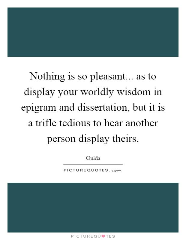 Dissertation words wisdom