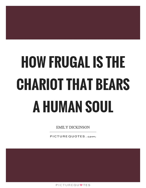 How frugal is the chariot that bears a human soul Picture Quote #1