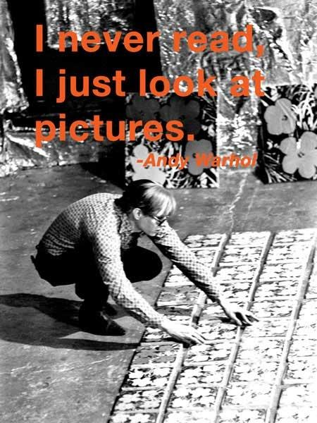 I never read, I just look at pictures Picture Quote #2