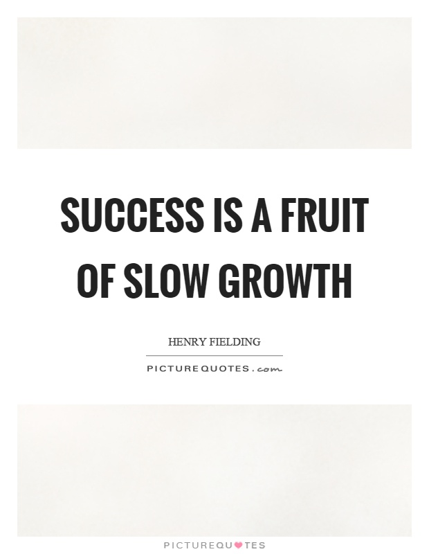 Success is a fruit of slow growth Picture Quote #1