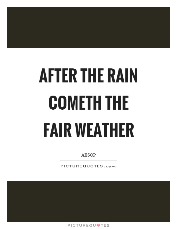 After the rain cometh the fair weather Picture Quote #1