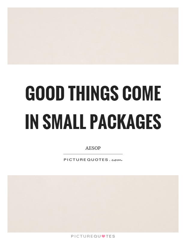 Good things come in small packages Picture Quote #1