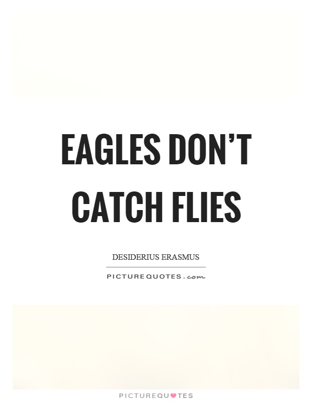 Eagles don't catch flies Picture Quote #1