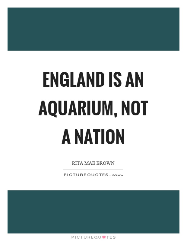 England is an aquarium, not a nation Picture Quote #1