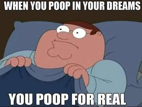 When you poop in your dreams you poop for real Picture Quote #1