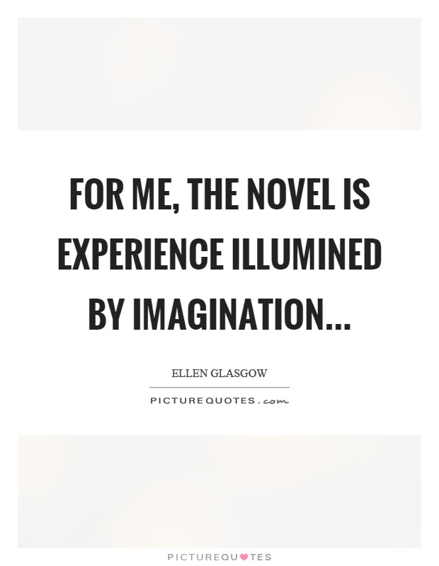 For me, the novel is experience illumined by imagination Picture Quote #1