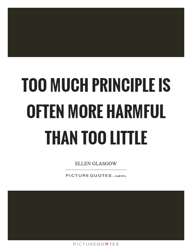 Too much principle is often more harmful than too little Picture Quote #1