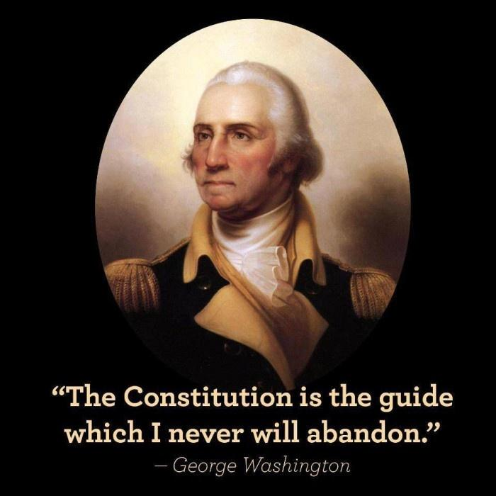 The Constitution is the guide which I never will abandon Picture Quote #1