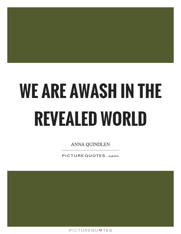 We are awash in the revealed world Picture Quote #1