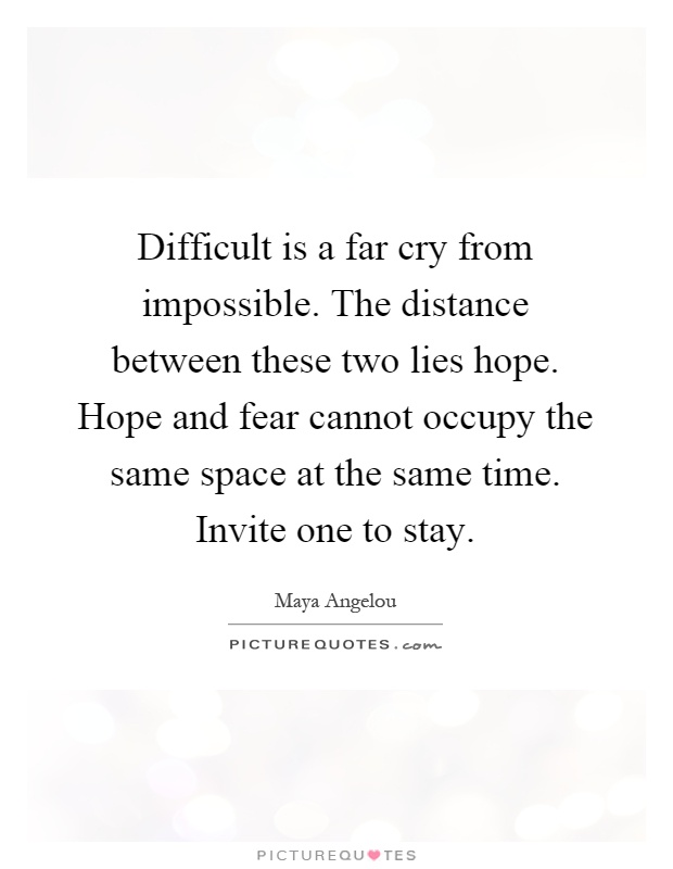 The battle between fear and hope