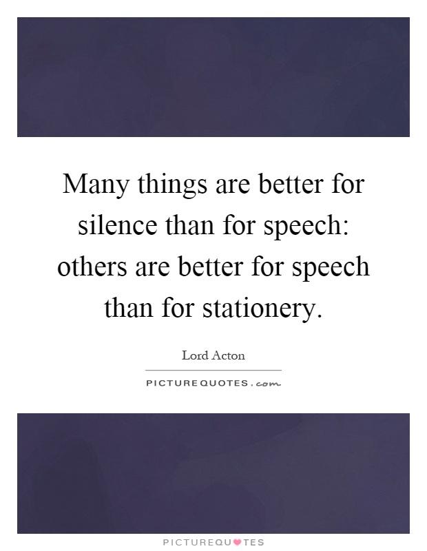 essay on silence is better than speech