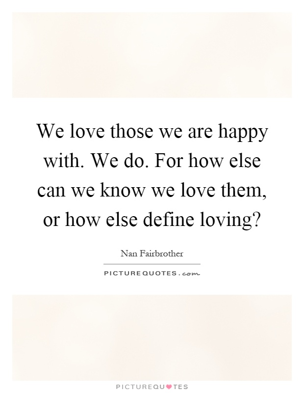 How do we know when we are in love