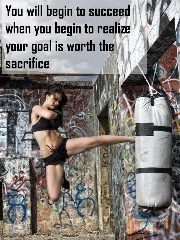 You will begin to succeed when you begin to realize your goal is worth the sacrifice Picture Quote #1