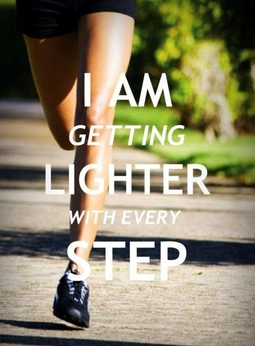 I am getting lighter with every step Picture Quote #1