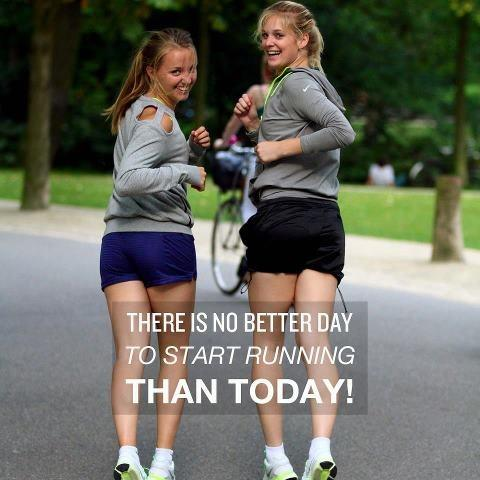 There is no better day to start running than today! Picture Quote #1