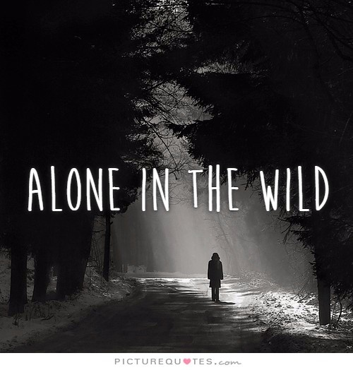 Alone in the wild Picture Quote #1