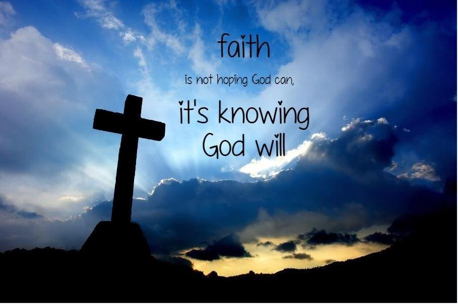 Faith is not hoping God can, it's knowing God will Picture Quote #1