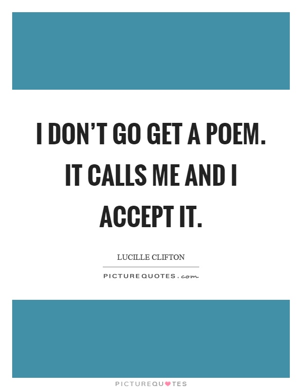 Lucille Clifton quotes