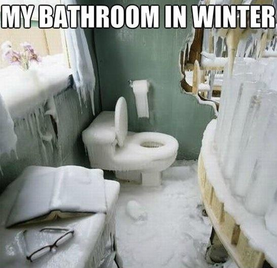 My bathroom in winter Picture Quote #1