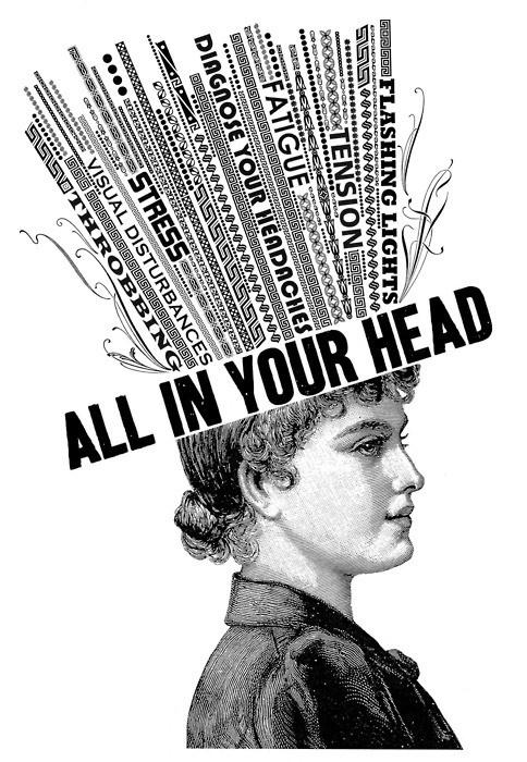It's all in your head Picture Quote #1