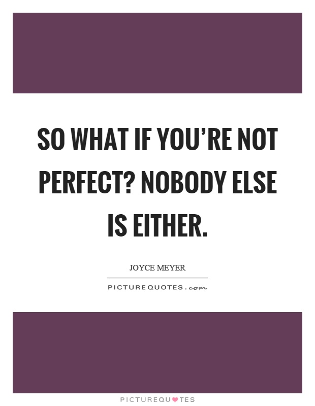 nobody is perfect quote