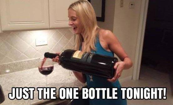 Just one bottle tonight! Picture Quote #1