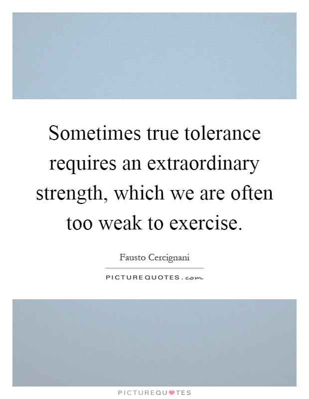 Tolerance essays