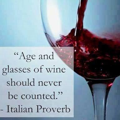 Age and glasses of wine should never be counted Picture Quote #1