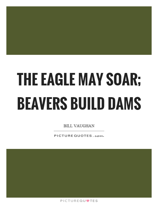 The eagle may soar; beavers build dams Picture Quote #1