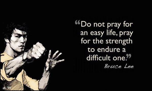 Do not pray for an easy life, pray for the strength to endure a difficult one Picture Quote #1