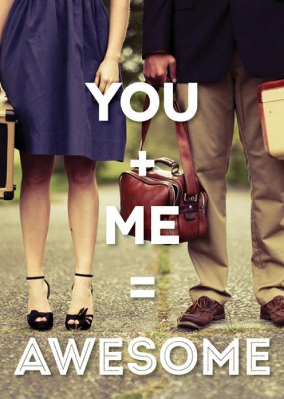 You plus me equals awesome Picture Quote #1