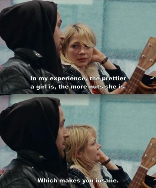 In my experience, the prettier a girl is, the more nuts she is. Which makes you insane Picture Quote #1