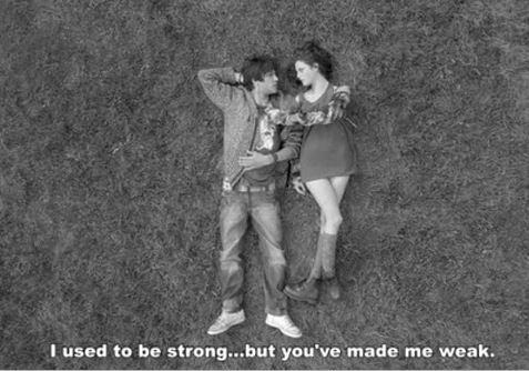 I used to be strong but then you made me weak Picture Quote #1
