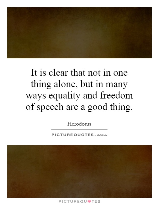 freedom of speech vs equality Freedom of expression is a core part of the right to code and human rights provisions limiting hate speech canadian civil liberties association 90.