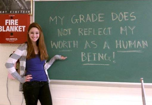 My grade does not reflect my worth as a human being Picture Quote #1