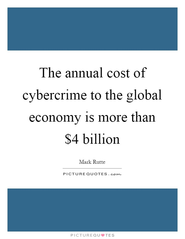 the cost of cyber-crime essay Some scholars have interestingly argued that, in the internet nobody knows you are a dog2 this raises some legal issues and concerns3 this paper presents important issues on the security, prevention, and detection of cyber crime.