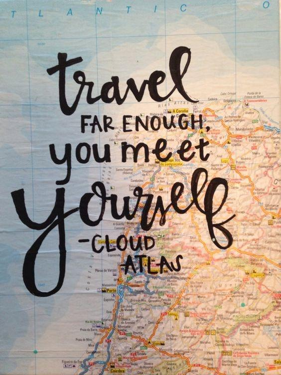 Travel far enough, you to meet yourself Picture Quote #1