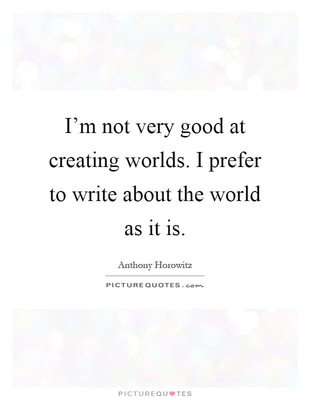 Something really good to write about?
