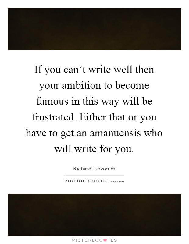 how to write music ambition
